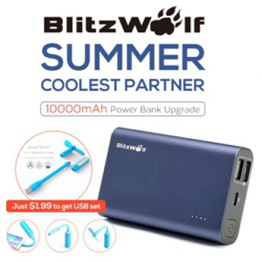 Preorder for $17.99 BlitzWolf Quick Charge Dual USB Port Power Bank from HongKong BangGood network Ltd.