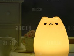 $8 with coupon for Cartoon Cat LED Night Light  –  WHITE from GearBest