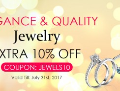Extra 10% off with Coupon jewels10 for Elegant and Quality Jewelry from Zapals