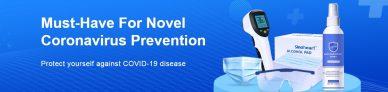 DOIT AVOIR POUR DE NOUVEAUX MASQUES DE PRÉVENTION DES CORONAVIRUS, des appareils de stérilisation, des gants, des lunettes DE BANGGOOD