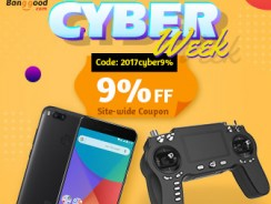 Cyber Week Carnival- 9% OFF Siteiwde Coupon for Any orders from BANGGOOD TECHNOLOGY CO., LIMITED