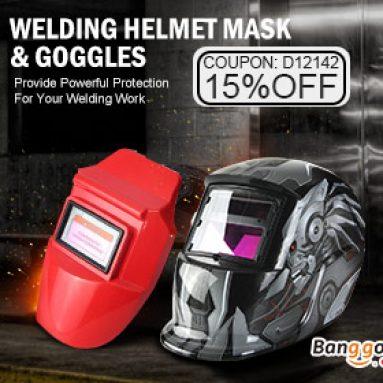 15% OFF Svařovací nástroje a maska přilby od společnosti BANGGOOD TECHNOLOGY CO., LIMITED