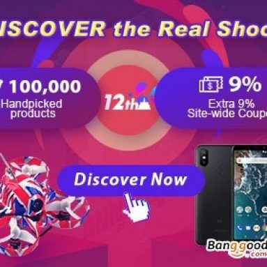 BANGGOOD 12th ANNIVERSARY – Discover the real shock! up to 8% sitewide discount coupons