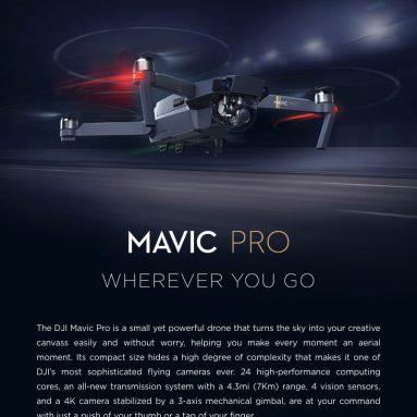 $ 1116 với phiếu giảm giá cho DJI Mavic Pro Có Thể Gập Lại Tránh Chướng Ngại Vật Drone FPV RC Quadcopter Bay Hơn Combo từ TOMTOP