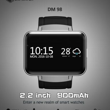 $ 7 tắt cho DM98 Smart Watch, miễn phí vận chuyển US $ 75.99 (Mã: HLWDM98) từ TOMTOP Technology Co., Ltd