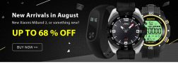 OPP TIL 68% AV til august nye klokker fra TinyDeal