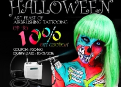 10% OFF Halloween Art Feast of Airbrush and Tattoo from BANGGOOD TECHNOLOGY CO., LIMITED