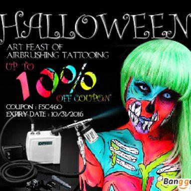 10% OFF Halloween Art Fest av Airbrush og Tattoo fra BANGGOOD TECHNOLOGY CO., LIMITED