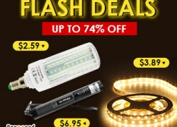 Flash Deals: Up to 74% OFF for Lights & Lighitng from BANGGOOD TECHNOLOGY CO., LIMITED