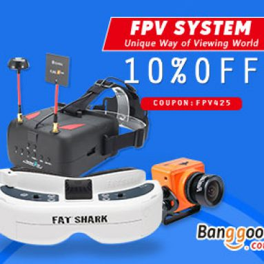 BANGGOOD TECHNOLOGY CO., LIMITED의 FPV 시스템 제품을위한 10 % OFF