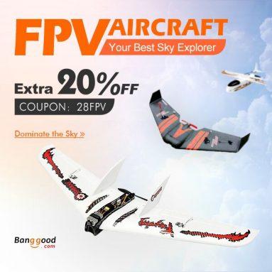 FPV letadlo: 20% OFF pro nejhorší + 12% OFF pro nejnovější z firmy BANGGOOD TECHNOLOGY CO., LIMITED