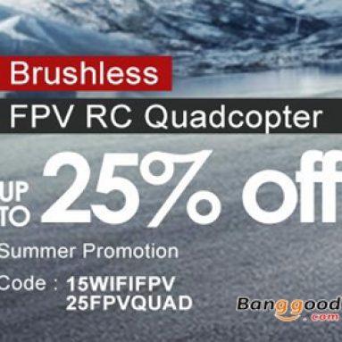 25% OFF pro ohřev FPV RC Quadcopter od společnosti BANGGOOD TECHNOLOGY CO., LIMITED