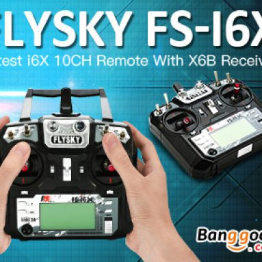 BANGGOOD प्रौद्योगिकी कं से X6B आई-बस रिसीवर के साथ Flysky FS-i6X आर सी ट्रांसमीटर के लिए विशेष छूट।, लिमिटेड