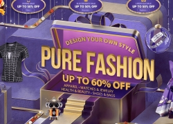 Massive sale, up to 60% off for CLOTHES and APPARELS GearBest.com 4th Anniversary