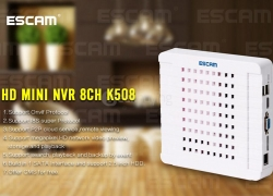 $10 off COUPON for ESCAM K508 HD Mini NVR 8CH 1080P IP Camera from Geekbuying