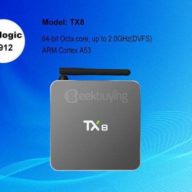 $ 8 OFF for Tanix TX8 fra Geekbuying