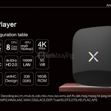 $ 7 OFF for X-Player 2G 16G TV-boks fra Geekbuying