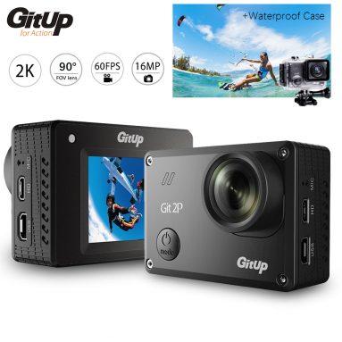 GitUp Git2P 90 ° FOV Camera Hành Động Chống Thấm Nước 2160P 16MP WiFi - Pro Đóng Gói $ 109.99 Miễn Phí Vận Chuyển từ Zapals