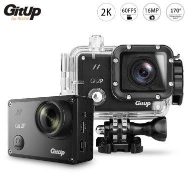 GitUp Git2P Camera Hành Động Chống Thấm Nước 170 Độ Ống Kính - Pro Đóng Gói $ 99.99 Miễn Phí Vận Chuyển từ Zapals