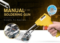$9 with coupon for gocomma Manual Soldering Gun – YELLOW 220V from GearBest