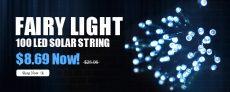 Flashligt Sale – $8.69 100 LED Solar String Light from FASTBUY INC