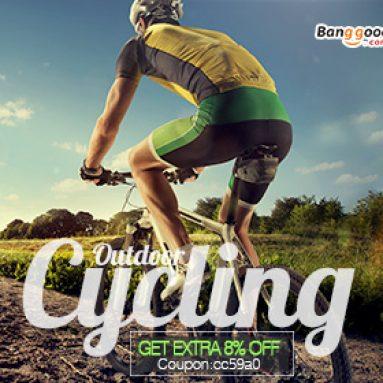 8% OFF pro nové přílety Outdoor Cycling od společnosti BANGGOOD TECHNOLOGY CO., LIMITED