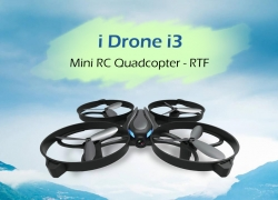 $14 with coupon for i Drone i3 Mini RC Quadcopter – RTF  – NO CAMERA SILVER GRAY from GearBest