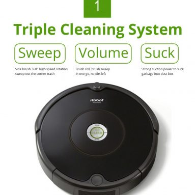 €203 with coupon for iRobot Roomba 615 Intelligent robot vacuum cleaner from GEEKBUYING