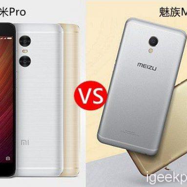 Xiaomi Redmi Pro VS Meizu MX6 디자인, Antutu, 카메라, 배터리, OS 검토