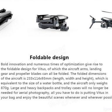 Walkera VITUS 320 Skládací augmented reality drone s osou 3 Gimbal!