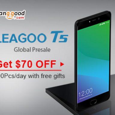 $ 70 OFF Leagoo T5 FHD Duální zadní kamery Fingerprint 4GB RAM 64GB ROM 4G Smartphone od společnosti BANGGOOD TECHNOLOGY CO., LIMITED