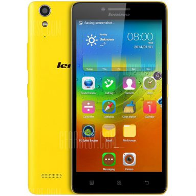 $68 with coupon for Lenovo Lemon K3 (K30-w) 4G Smartphone – YELLOW from GearBest