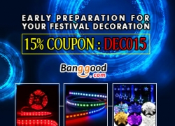 15% OFF for Holiday Lights from BANGGOOD TECHNOLOGY CO., LIMITED