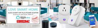 LINGAN Smartphone dálkové ovládání WiFi Plug Socket Podpora Alexa Control $ 12.99 Doprava zdarma od Zapals