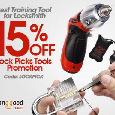 15% OFF Công cụ đào tạo tốt nhất cho TẤT CẢ Locksmith từ BANGGOOD TECHNOLOGY CO., LIMITED