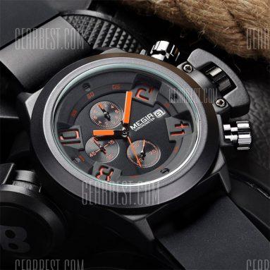 $ 13 z kuponem Męski zegarek kwarcowy MEGIR 2002 czarny od GearBest