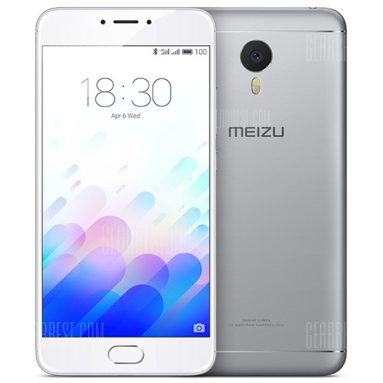 $149 with coupon for MEIZU M3 note 4G Phablet – SILVER from GearBest