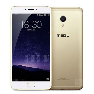 $183 with coupon for Meizu MX6 International Edition 32GB ROM 4G Phablet  –  GOLDEN from GearBest