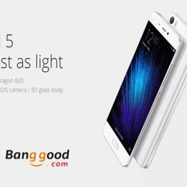7% OFF pro Xiaomi Mi5 5.15-palcový 3GB RAM 64GB ROM Smartphone od společnosti BANGGOOD TECHNOLOGY CO., LIMITED