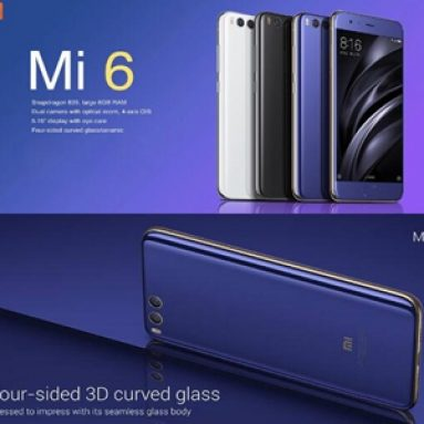 6%OFF Xiaomi Mi 6 6GB RAM 64GB ROM 4G BANGGOOD TECHNOLOGY CO。、LIMITEDのスマートフォン