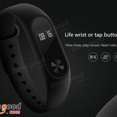 20% OFF pro Xiaomi Miband 2 společnosti BANGGOOD TECHNOLOGY CO., LIMITED