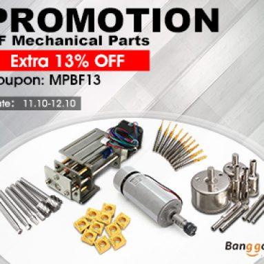 Extra 13% OFF pro mechanické součásti Black Friday Promotion od společnosti BANGGOOD TECHNOLOGY CO., LIMITED
