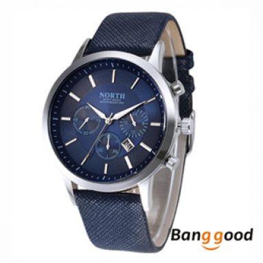 $ 8.99 (€ 7.81) pro NORTH 6009 Men Quartz Watch od společnosti BANGGOOD TECHNOLOGY CO., LIMITED