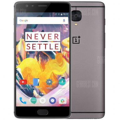 $399 with coupon for OnePlus 3T 4G Phablet  –  6GB RAM 64GB ROM  GRAY