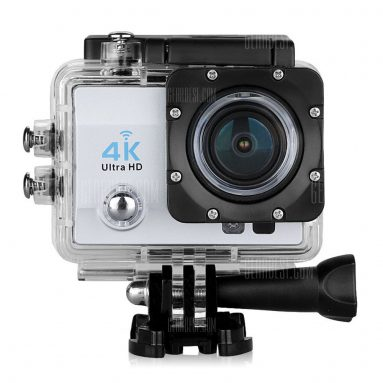 $ 33 với phiếu giảm giá cho Q6 WiFi 4K Máy ảnh thể thao hành động Ultra HD - EU PLUG SILVER từ GearBest