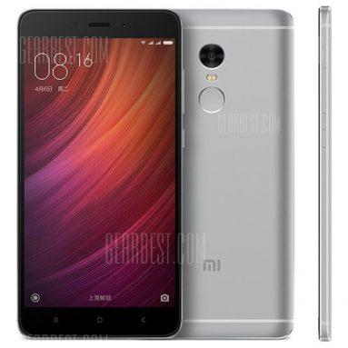 $184 flash deal for Xiaomi Redmi Note 4 International Edition 4G Phablet – 3GB RAM + 32GB ROM GRAY