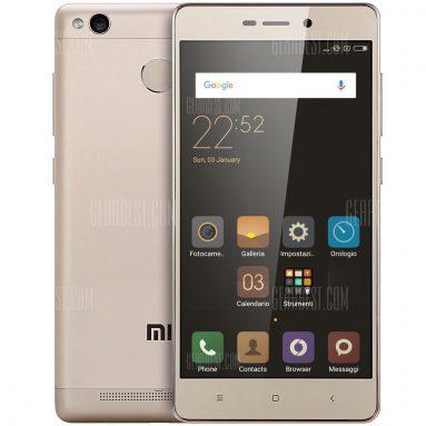 $ 124 cho Xiaomi Redmi 3S 3GB RAM 4G Smartphone Vàng từ GearBest
