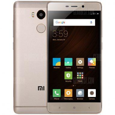 $ 138 với phiếu giảm giá cho Xiaomi Redmi 4 4G Smartphone - 3GB RAM 32GB ROM VÀNG