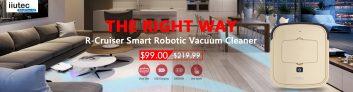 IIUTEC आर-क्रूजर अल्ट्रा-स्लिम स्मार्ट रोबोट वैक्यूम क्लीनर केवल Zapals से $ 99.00