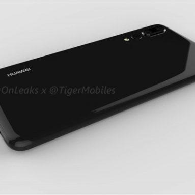 Huawei P20 Plus Renderings Showcase iPhone X-Like Design
